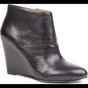 Nine West Wedge Leather Booties